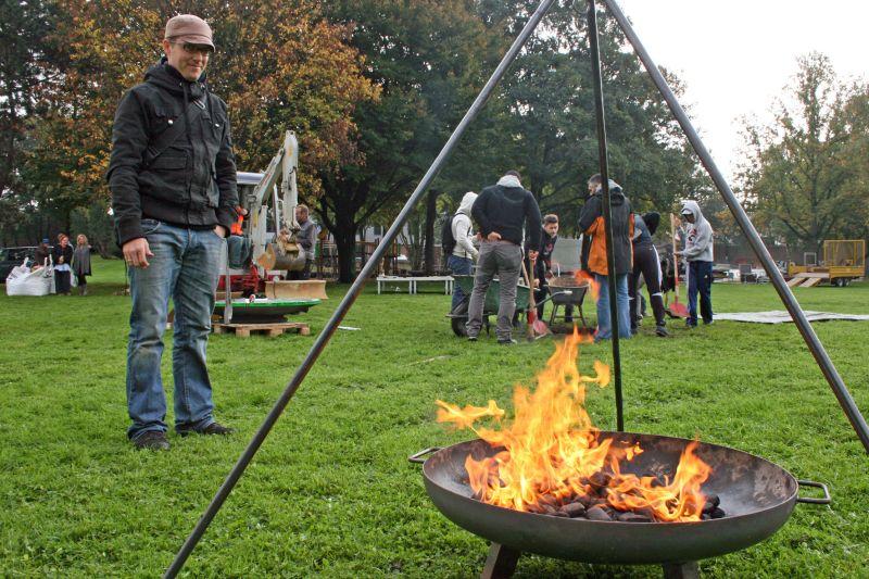 Wwwaachende Bilder Installation Feuerschale Kennedypark